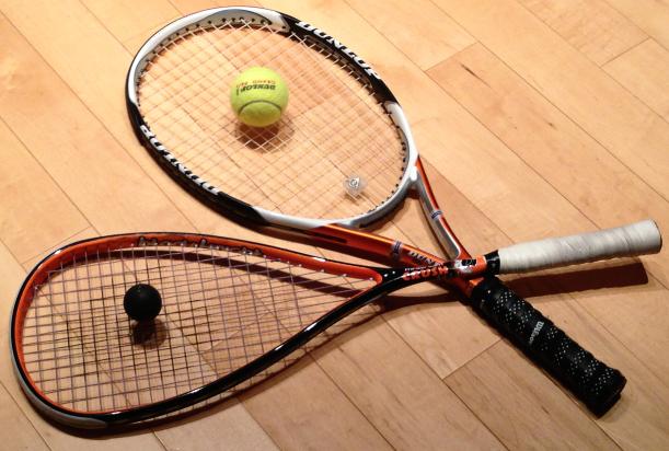 squash vs. tennis