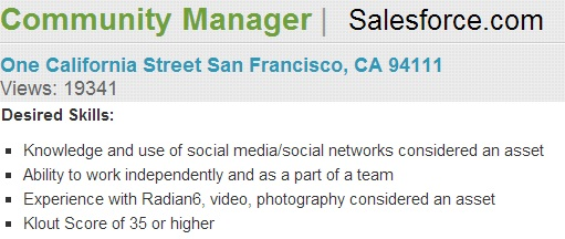 Community Manager at Salesforce.com