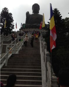 Steps to Tian Tan Buddha