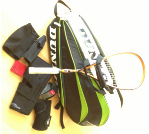 The racquet baggage!
