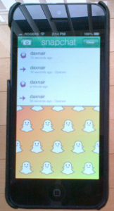 Snapchat Interface