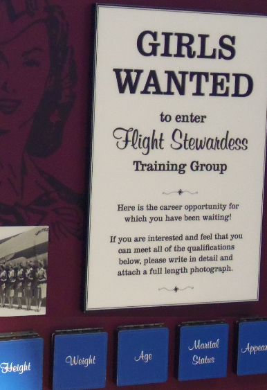 Advertisement for a Flight Stewardess in the 50s