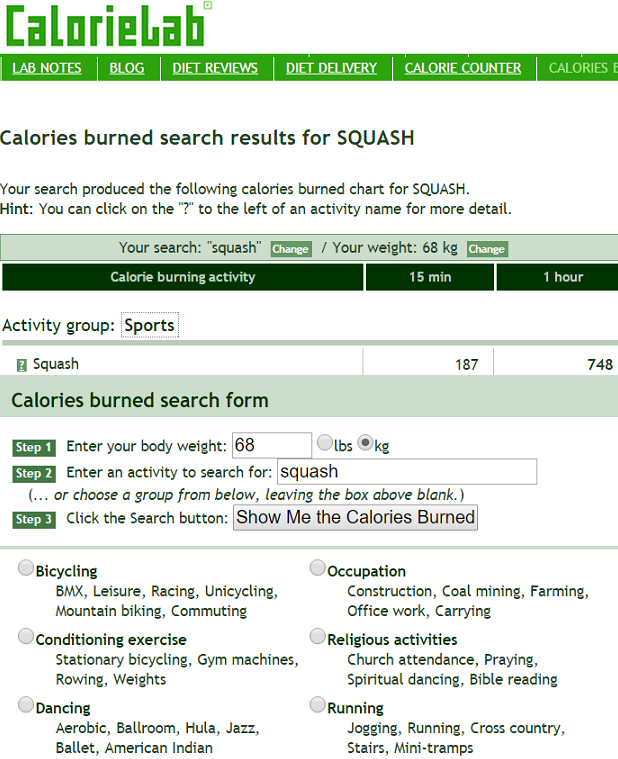 Squash and Fitness – Steps Covered and Calories Burned - Racquet Social